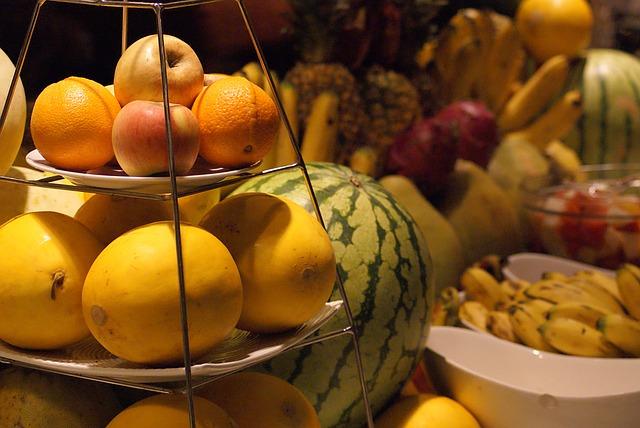 ovoce, melouny, jídlo